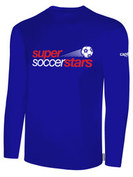 SUPER SOCCER STARS  LONG SLEEVE  YOUTH T-SHIRT   --  BLUE