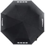 DELMARVA AUTO-OPEN AND CLOSE COLLAPISBLE UMBRELLA -- BLACK WHITE
