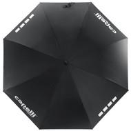 DELMARVA UNISEX AUTOMATIC STICK UMBRELLA -- BLACK WHITE