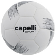 DELMARVA TRIBECA STRIKE COMPETITION ELITE, FIFA QUALITY THERMAL BONDED SOCCER BALL BLACK METALLIC SILVER