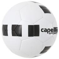 DELMARVA 4 CUBE CLASSIC COMPETITION ELITE THERMAL BONDED SOCCER BALL  WHITE BLACK