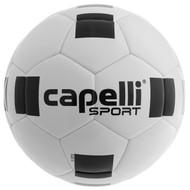 DELMARVA 4 CUBE CLASSIC COMPETITION ELITE FIFA QUALITY THERMAL BONDED SOCCER BALL WHITE BLACK