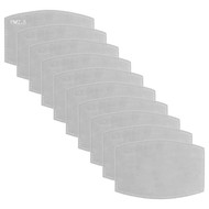 DELMARVA 10 PACK DISPOSABLE FILTERS FOR FABRIC MASKS GREY