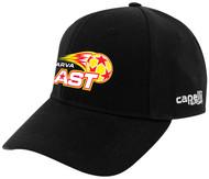 DELMARVA BLAST CS II BASEBALL CAP BLACK WHITE