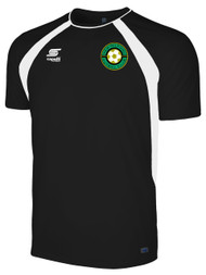 NEW MILFORD COACHES/PLAYERS TRAINING TOP -- BLACK WHITE
