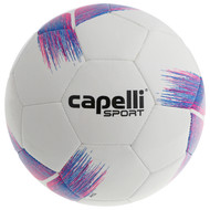 HADDON HEIGHTS CAPELLI SPORT TRIBECA STRIKE TEAM, IMS QUALITY MACHINE STICHED SOCCER BALL BRIGHT PINK PROMO BLUE
