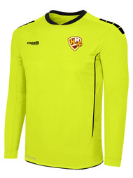 HADDON HEIGHTS SC SPARROW II LONG SLEEVE GOALKEEPER JERSEY WITHOUT PADDING NEON YELLOW BLACK