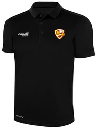 HADDON HEIGHTS SC CLAASSIC POLY POLO BLACK WHITE