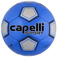 HADDON HEIGHTS SC  ASTOR FUTSAL MACHINE STITCHED SOCCER BALL PROMO BLUE SLIVER