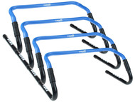 HADDON HEIGHTS SC  ADJUSTABLE HURDLES WITH RUBBER FEET PROMO BLUE WHITE