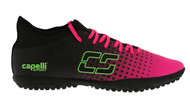 HADDON HEIGHTS SC FUSION I TR TURF SOCCER SHOES NEON PINK NEON GREEN BLACK