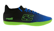 HADDON HEIGHTS SC  FUSION INDOOR SOCCER SHOES PROMO BLUE NEON GREEN/BLACK