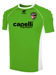 COAST FA GRIFFON SHORT SLEEVE GOALIE JERSEY -- POWER GREEN WHITE