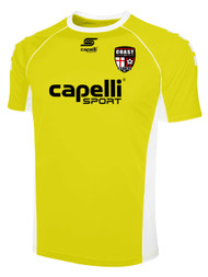 COAST FA GRIFFON SHORT SLEEVE GOALIE JERSEY --  YELLOW WHITE