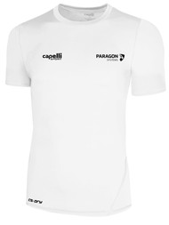 PARAGON SYSTEMS SHORT SLEEVE PERFORMANCE TOP WHITE BLACK