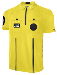 OFFICIAL REFEREE SHORT SLEEVE JERSEY WITH   ZIPPER REFEREE YELLOW BLACK - MSRP