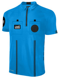 OFFICIAL REFEREE SHORT SLEEVE JERSEY     WITH ZIPPER REFEREE BLUE BLACK - MSRP