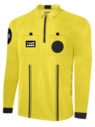 OFFICIAL REFEREE LONG  SLEEVE  JERSEY  WITH ZIPPER REFEREE YELLOW BLACK - MSRP