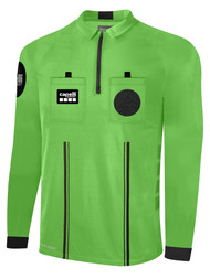 OFFICIAL REFEREE LONG SLEEVE  JERSEY  WITH  ZIPPER REFEREE GREEN BLACK - MSRP