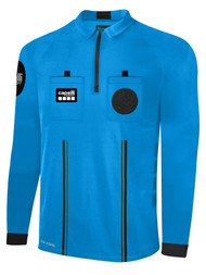 OFFICIAL REFEREE LONG  SLEEVE  JERSEY  WITH ZIPPER REFEREE BLUE BLACK - MSRP