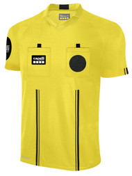 OFFICIAL REFEREE V-NECK  SHORT  SLEEVE JERSEY REFEREE YELLOW BLACK - MSRP