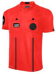 OFFICIAL REFEREE V-NECK  SHORT  SLEEVE JERSEY REFEREE RED BLACK - MSRP