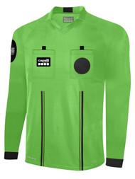 OFFICIAL REFEREE  V-NECK  LONG SLEEVE JERSEY REFEREE GREEN BLACK - MSRP