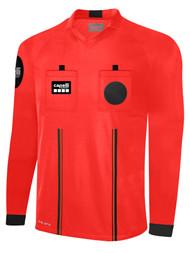 OFFICIAL REFEREE  V-NECK  LONG SLEEVE JERSEY REFEREE RED BLACK - MSRP