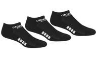 REFEREE BASICS ULTRA COMFORT 3 PACK NO SHOW SOCKS BLACK WHITE -MSRP