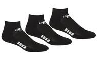 REFEREE       BASICS ULTRA COMFORT 3 PACK LOW CUT SOCKS BLACK WHITE -MSRP