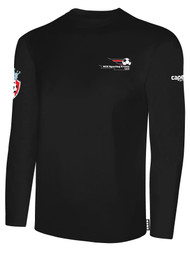 LAKE GARDA LONG SLEEVE COTTON T-SHIRT -- BLACK
