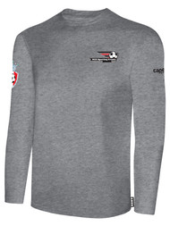 LAKE GARDA LONG SLEEVE COTTON T-SHIRT -- LIGHT HEATHER GREY