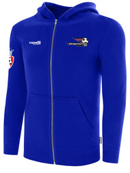 LAKE GARDA FULL ZIP HOODIE -- ROYAL BLUE WHITE