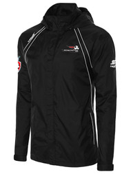 LAKE GARDA RAVEN RAIN JACKET -- BLACK WHITE
