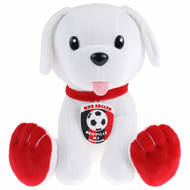 HUB SOCCER PLUSH TOY   -- WHITE RED