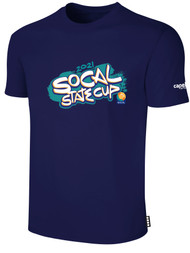 SOCAL STATE CUP SHORT SLEEVE COTTON T-SHIRT NAVY WHITE TEAL ORANGE LOGO CENTER CHEST