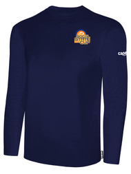 SOCAL STATE CUP LONG SLEEVE COTTON T-SHIRT NAVY WHITE LOGO LEFT CHEST