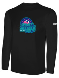 SOCAL STATE CUP LONG SLEEVE COTTON T-SHIRT BLACK WHITE BLUE PINK LOGO CENTER CHEST