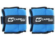 SOCAL STATE CUP 4LB SOFT ANKLE WRIST WEIGHTS -- BLUE COMBO