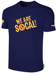 SOCAL SHORT SLEEVE COTTON T-SHIRT NAVY WHITE  WE ARE SOCAL LOGO CENTER CHEST
