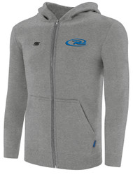 RUSH WISCONSIN WEST BASICS ZIP UP HOODIE -- LIGHT HEATHER GREY