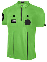 OFFICIAL  REFEREE  SHORT SLEEVE JERSEY WITH ZIPPER REFEREE GREEN BLACK - CSRP
