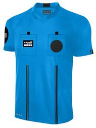 OFFICIAL REFEREE  V-NECK SHORT SLEEVE JERSEY REFEREE BLUE BLACK - CSRP