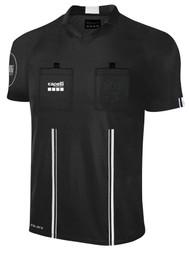 OFFICIAL  REFEREE V-NECK SHORT SLEEVE JERSEY BLACK WHITE - CSRP