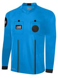 OFFICIAL  REFEREE V-NECK LONG SLEEVE JERSEY REFEREE BLUE BLACK - CSRP