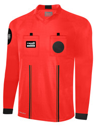 OFFICIAL  REFEREE V-NECK LONG SLEEVE JERSEY REFEREE RED BLACK - CSRP