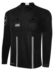 OFFICIAL  REFEREE V-NECK LONG SLEEVE JERSEY BLACK WHITE - CSRP