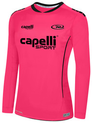 RUSH NEW MEXICO SPARROW MATCH LONG SLEEVE GOALIE JERSEY -- NEON PINK BLACK