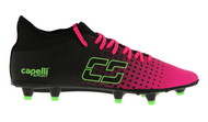 CSA FUSION  I FG FIRM GROUND SOCCER CLEATS NEON PINK NEON GREEN BLACK