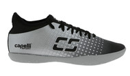 CSA  FUSION INDOOR SOCCER SHOES BLACK SILVER